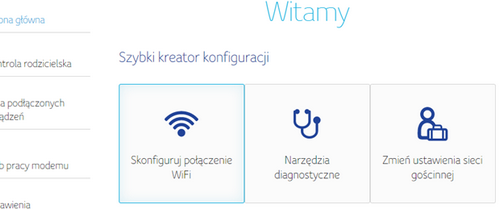 Connect Box, konfiguracja połączenia Wi-Fi