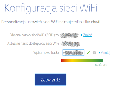 Connect Box, Zmiana hasła sieci bezprzewodowej