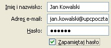 Poczta UPC (Thunderbird), początek konfiguracji