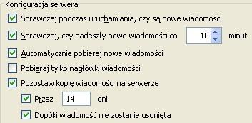 Poczta UPC (Thunderbird), konfiguracja serwera