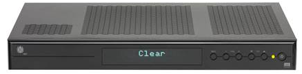 Mediabox, message CLEAR displayed on the set-top box