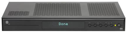 Mediabox, message DONE displayed on the set-top box