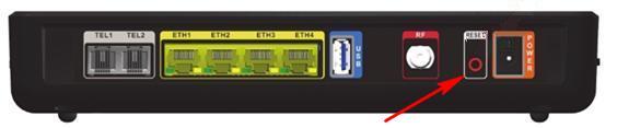 Ubee EVW3226, tył modemu