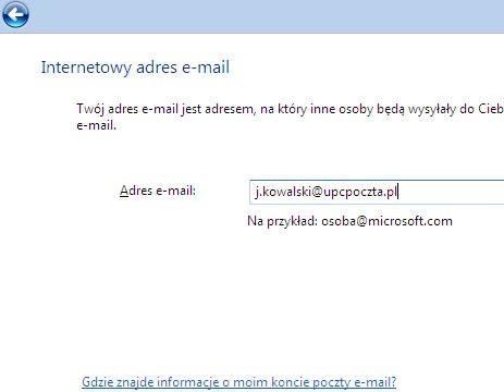 Poczta Windows (Vista), potwierdzenie adresu e-mail