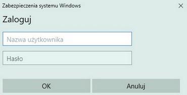 UPC Wi-Free - Windows 10, strona logowania